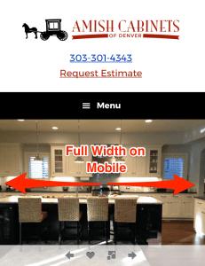 Website refresh - full width design