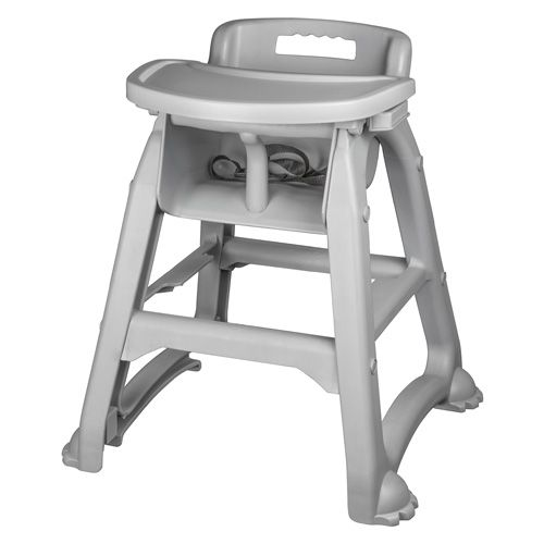 Gray Stackable Plastic High Chair in High Chair from