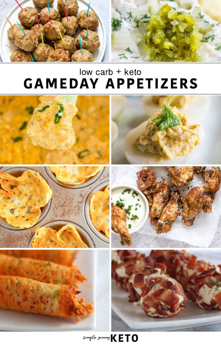 Keto / low carb gameday appetizers.