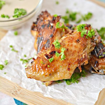keto French onion chicken wings