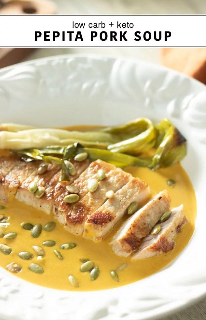 low carb keto pork pumpkin soup