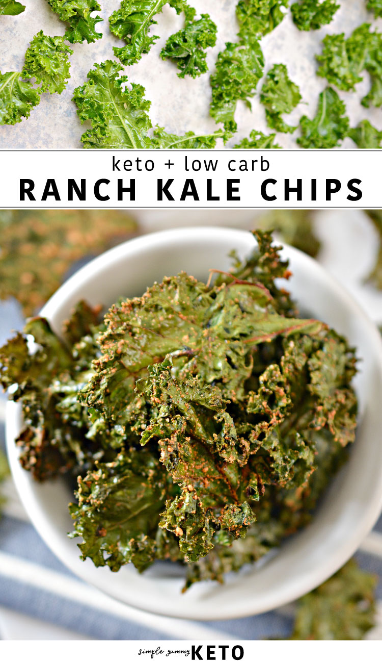 keto and low carb ranch kale chips recipe