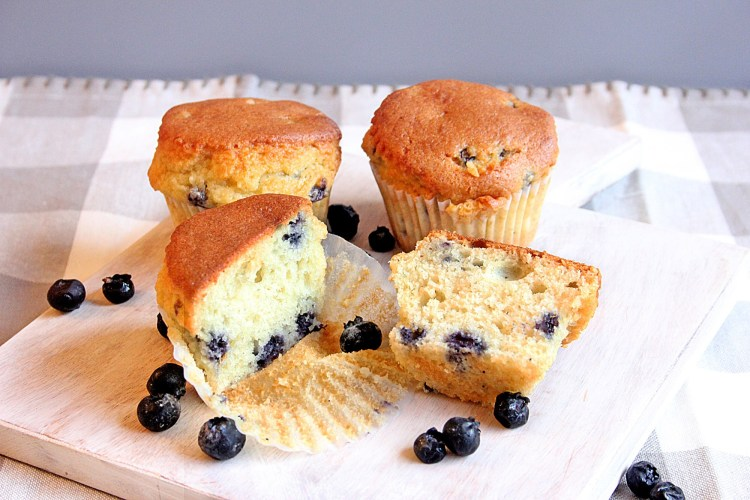 low carb blueberry muffins for Spring brunch