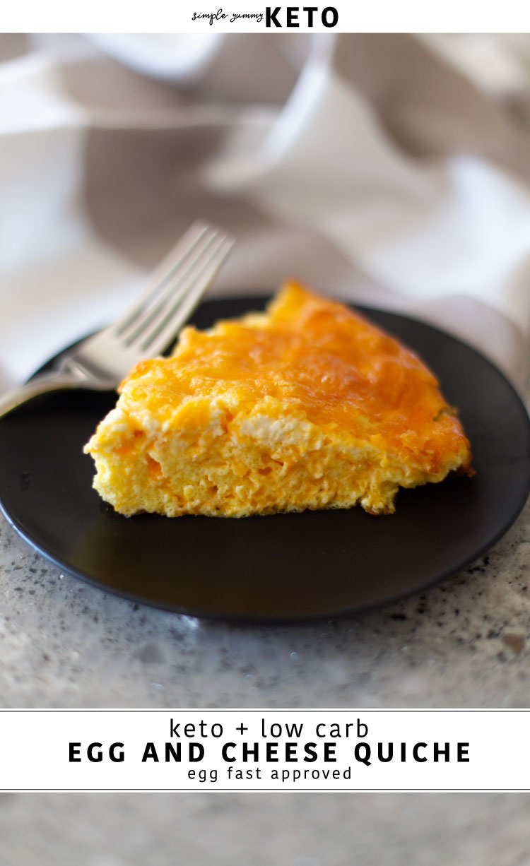 egg and cheese quiche recipe that's egg fast approved
