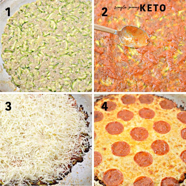 healthy keto pizza recipe with a zucchini crust