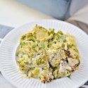 Keto Chicken Alfredo Casserole with Brussel Sprouts