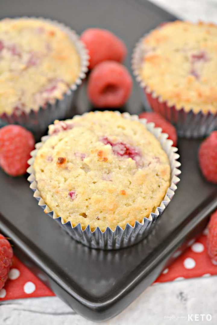 keto and low carb raspberry muffins