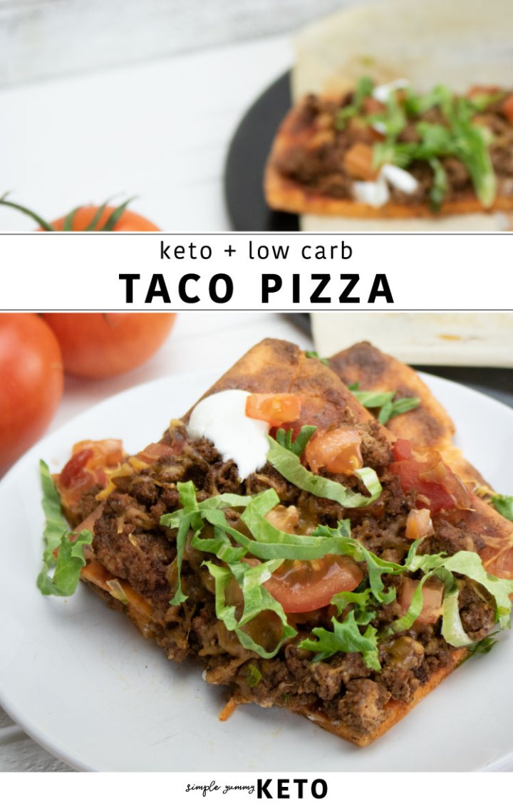 keto taco pizza recipe that's low carb + delish