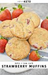 Low carb strawberry muffin recipe. Keto and Atkins muffin recipe.