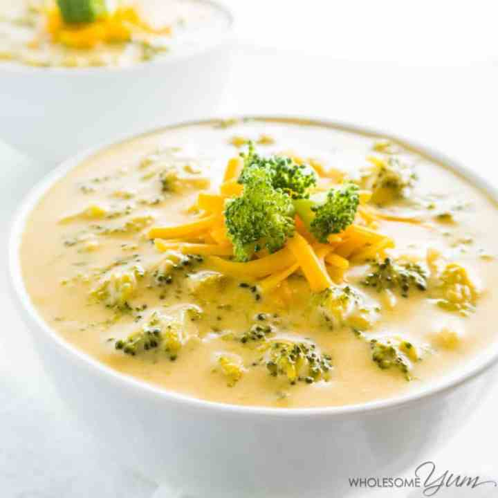 low carb broccoli cheese soup - 30 minute keto dinner recipe