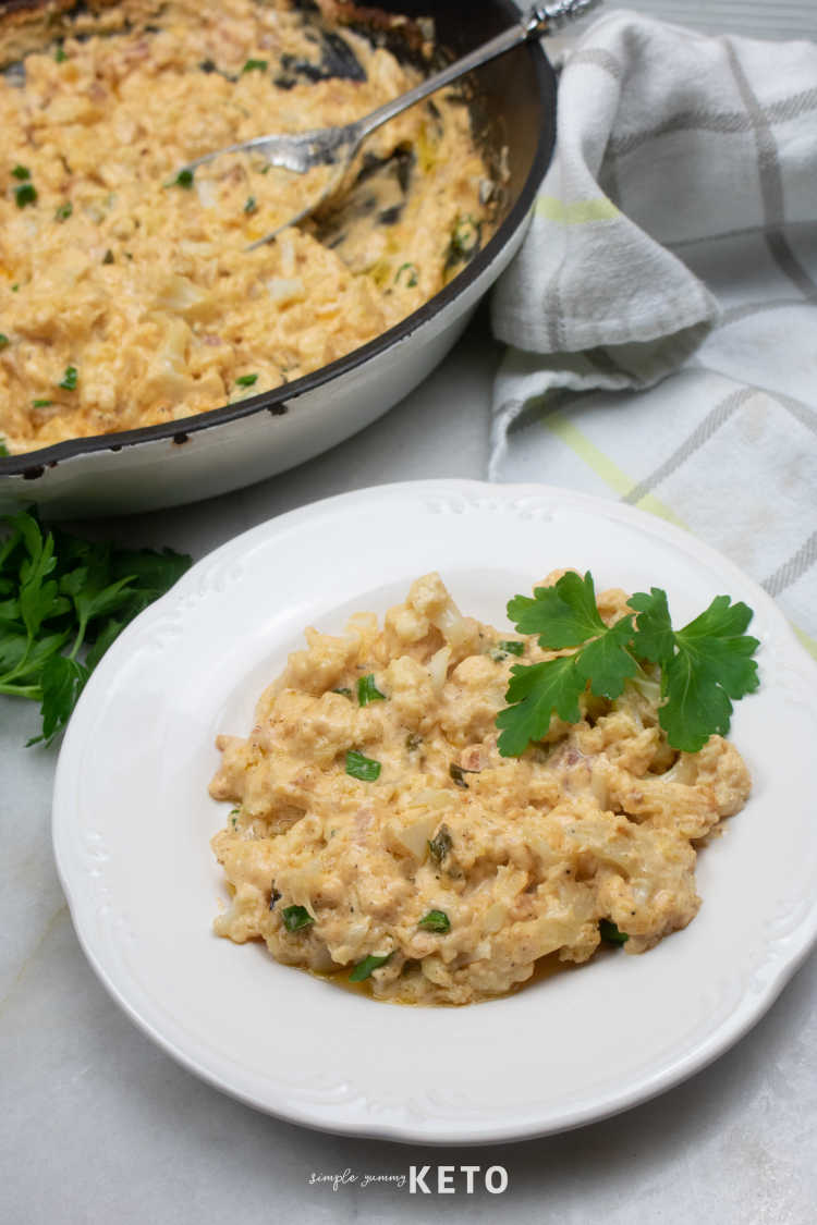low carb and keto loaded cauliflower casserole recipe