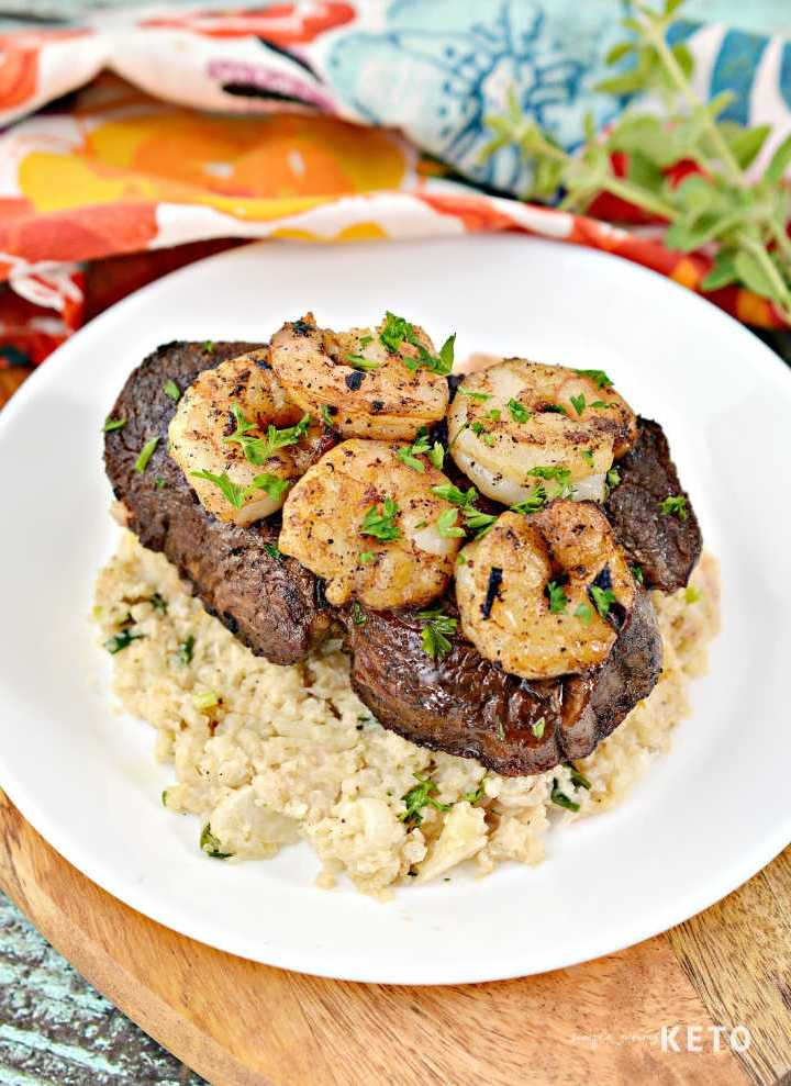 easy keto and low carb surf and turf recipe