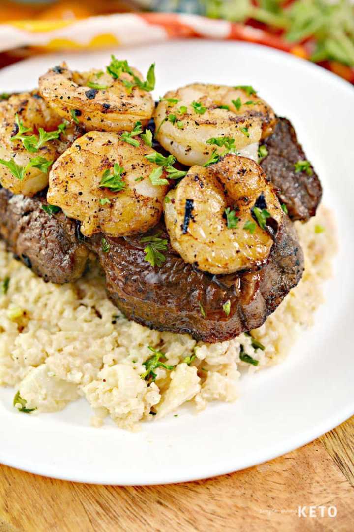 light surf and turf with risotto recipe