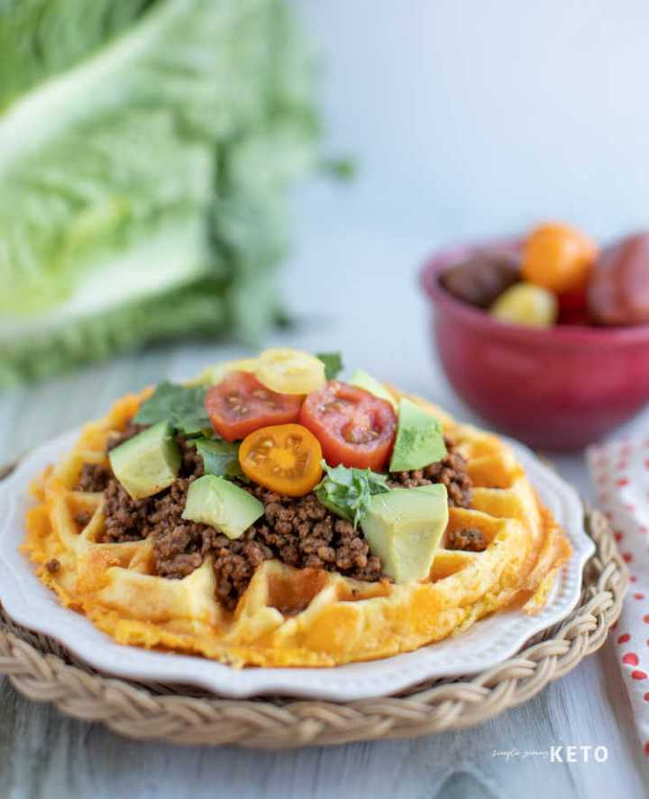 keto taco chaffle recipe a low carb fry bread inspired taco recipe