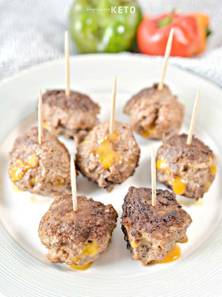 cheesy taco meatballs low carb appetizer and recipe