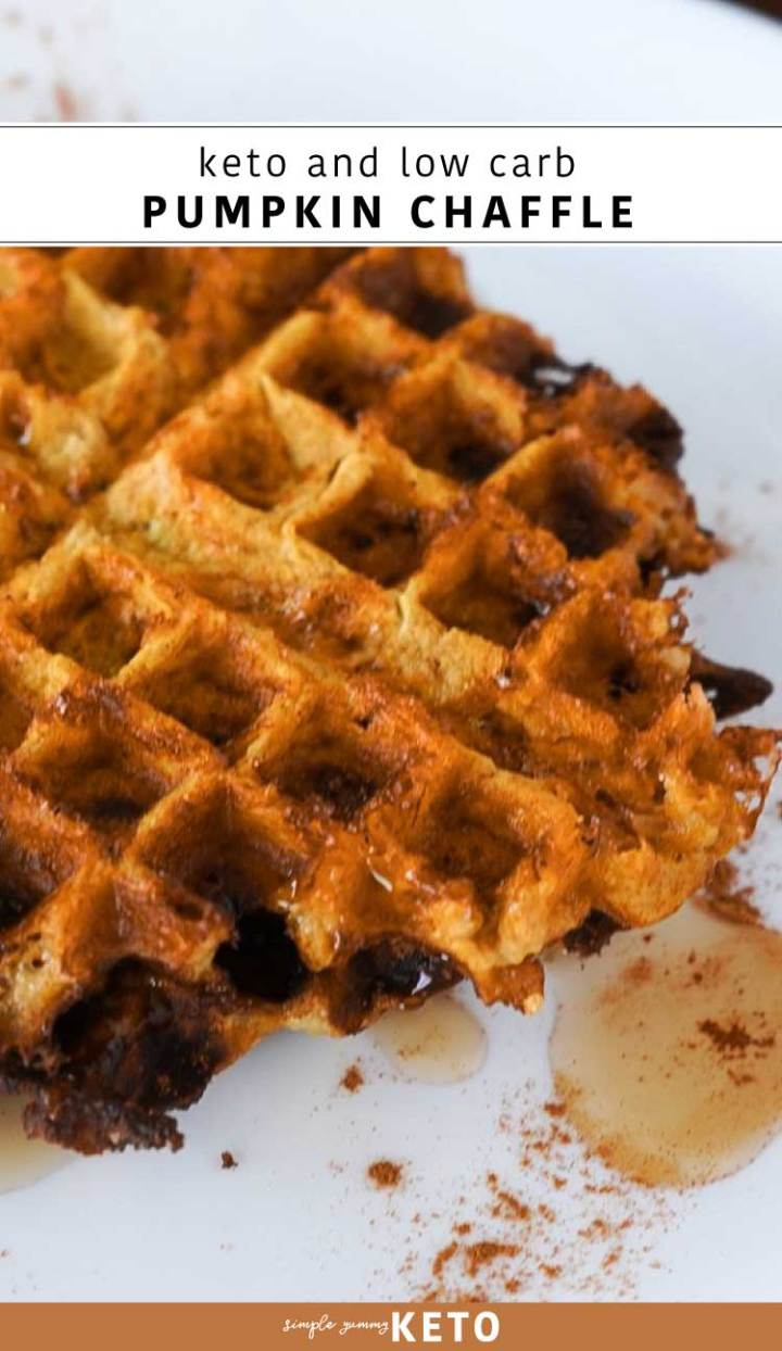 easy keto and low carb dessert pumpkin chaffle recipe