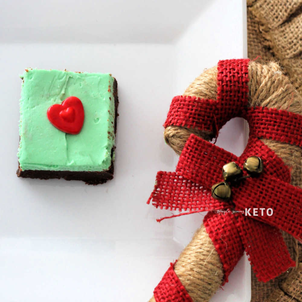 Grinch Mint and Chocolate Keto Fudge Recipe For Christmas