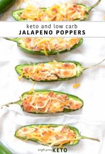 jalapeño popper recipe that is keto and low carb and can be made in the oven or air fryer