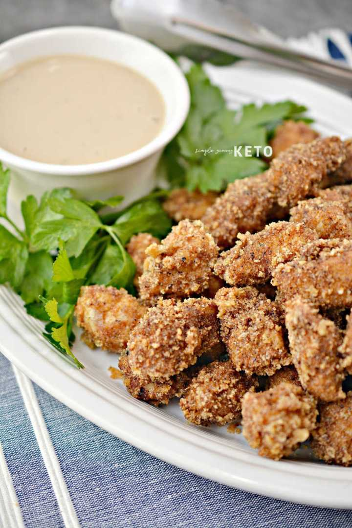keto popcorn chicken recipe