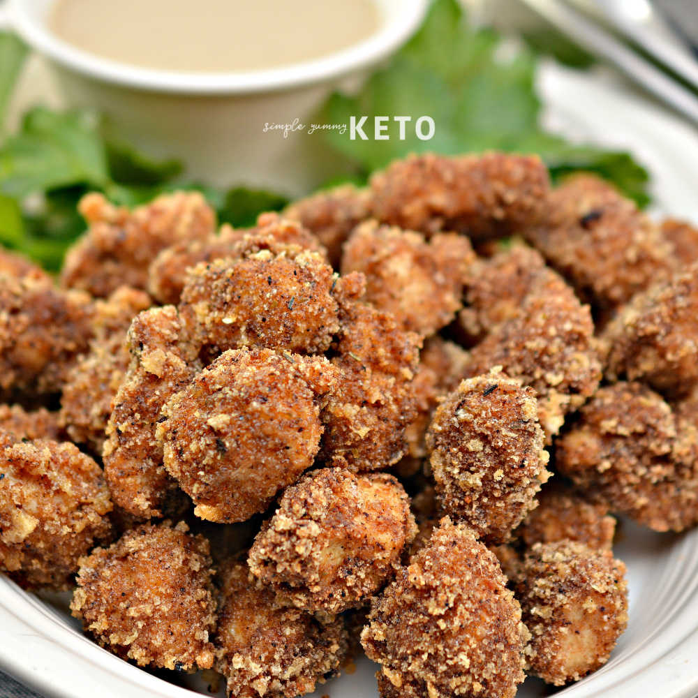 spicy popcorn chicken that is keto and low carb