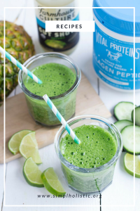 Green Recovery Smoothie - Vital Proteins, simplholistic, gut shot, gut health