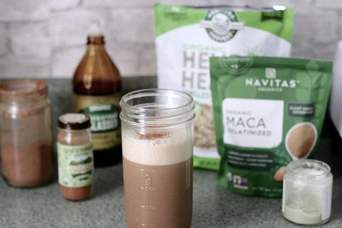 Caffeine free & dairy free maca latte.