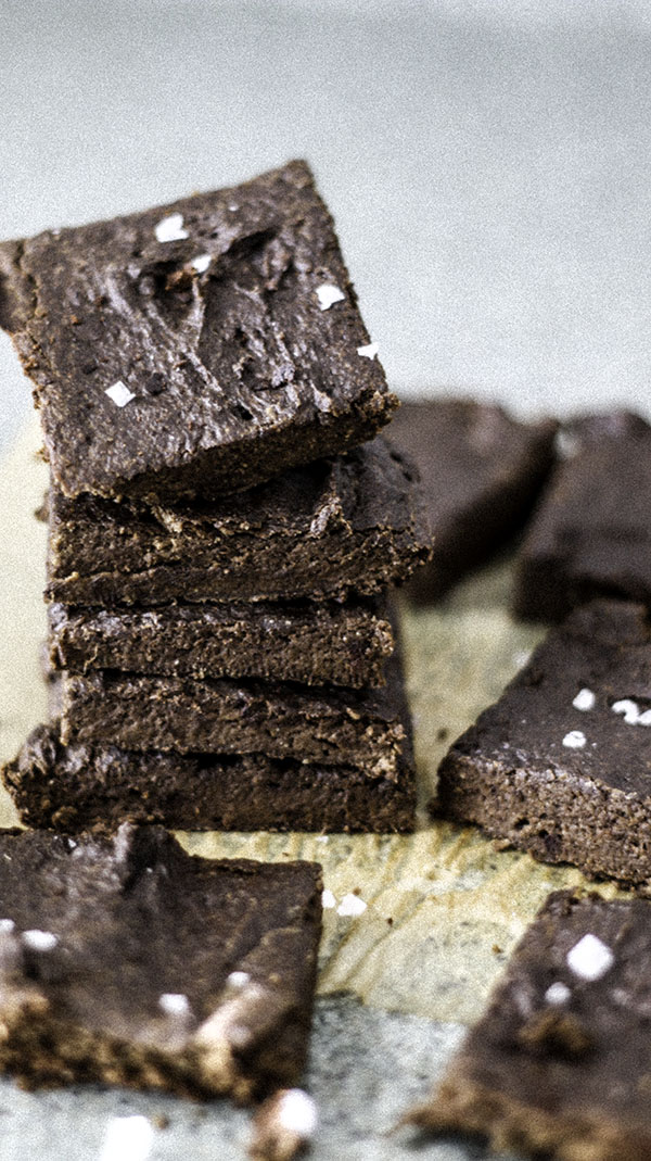 Tahini brownies that are grain free and sugar free