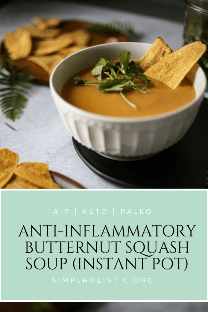 paleo, AIP, keto & dairy free anti inflammatory butternut squash soup