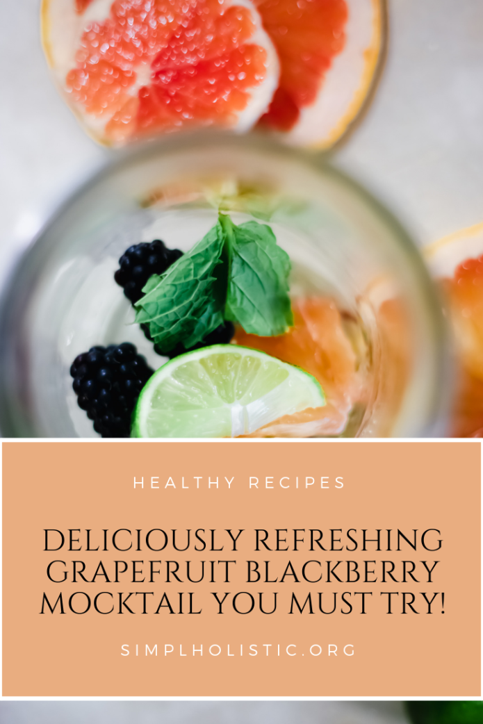Sip on this Grapefruit Blackberry Mocktail all year long for a refreshing and medicinal boost. Come check out the SECRET ingredient, you'll never guess!