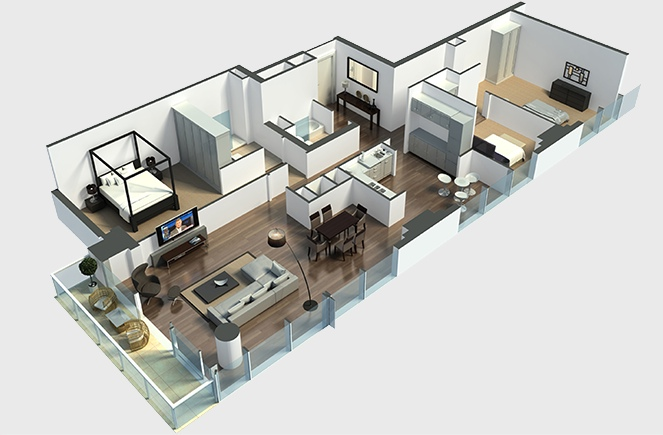 22largehall3bedroomlayout  simplicity and abstraction