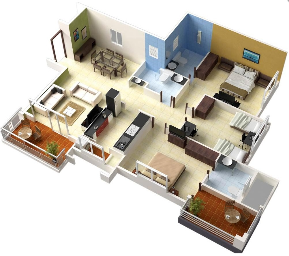3d house planner bedroom and living room image collections