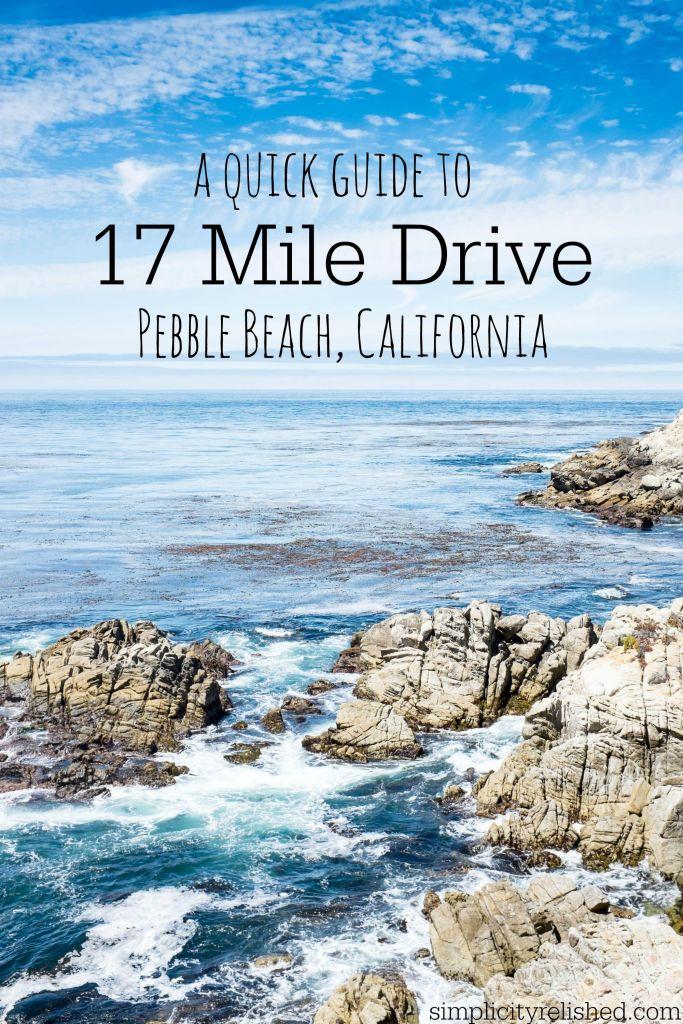 City Mile 17 Drive Carmel California Beach Pebble
