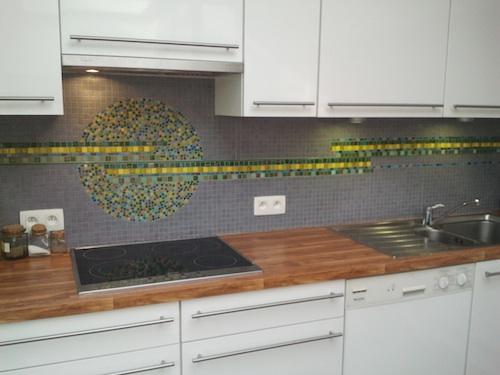 Mozaïeke muur keuken
