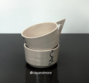 ceramic white coffee cups