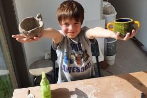 duimpotje maken uit klei