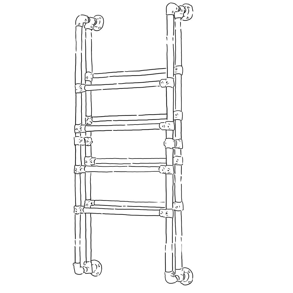 Industrial heavy duty shoe rack (Wall mounted