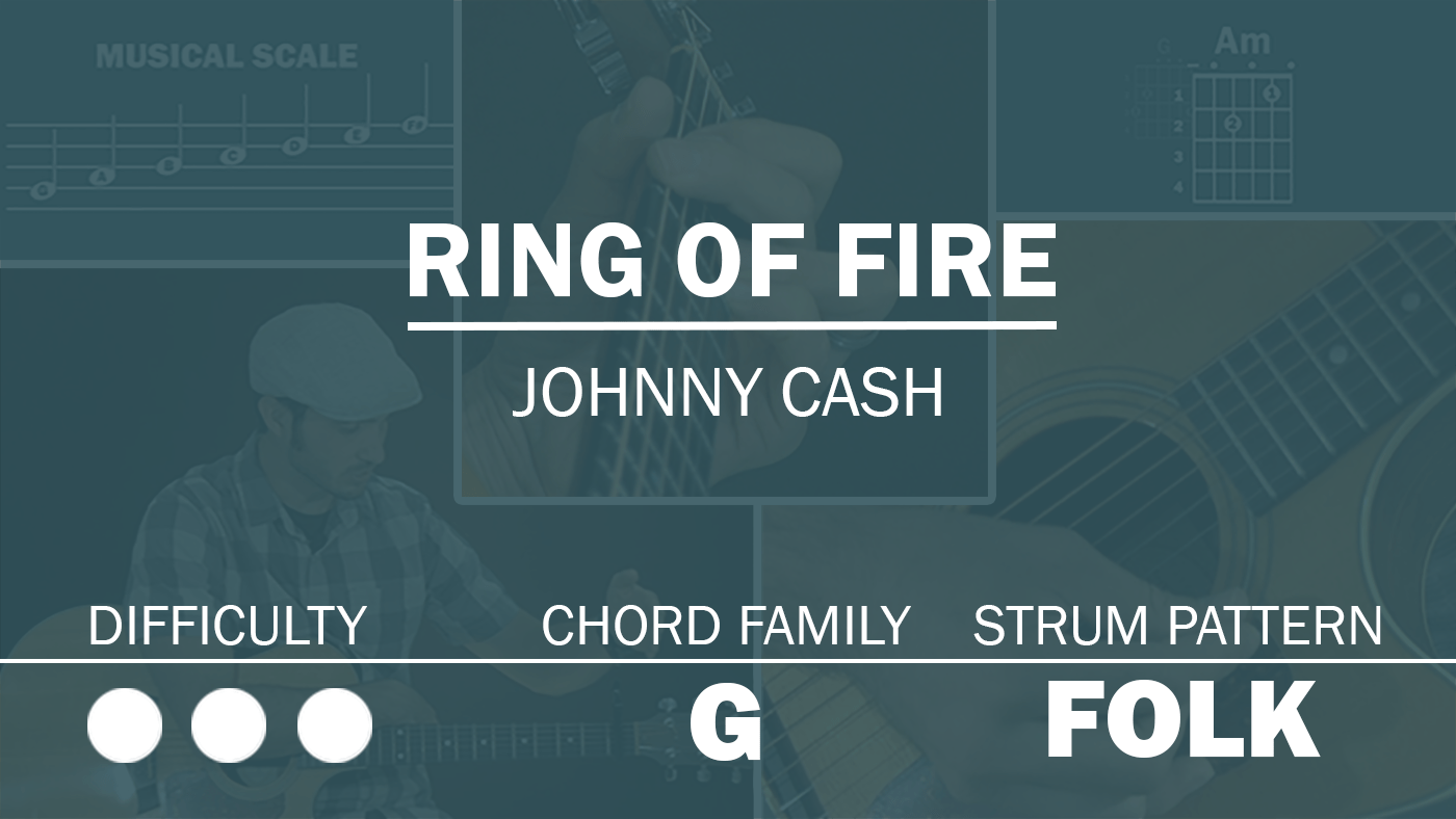 Ring Of Fire Simplified Guitar