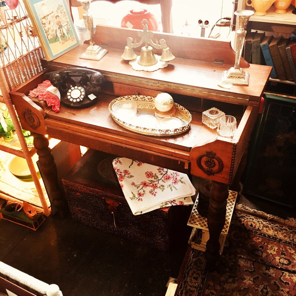 fliptop piano style antique desk