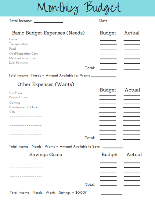 image relating to Printable Budget Template known as 2019 Very simple Funds Template Printable Free of charge Simplified