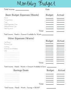 Easy Budget Template | 2019 Simple Budget Template Printable Free Simplified Motherhood