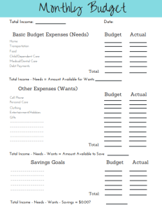 2019 simple2019 simple budget template printable simplified motherhood budget template printable screenshot
