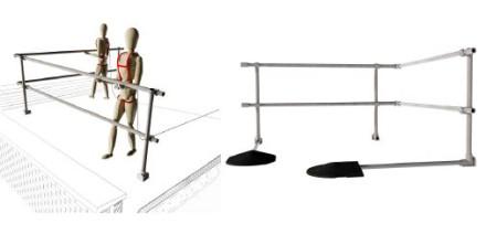 Roof free-standing guardrail regulations simplified