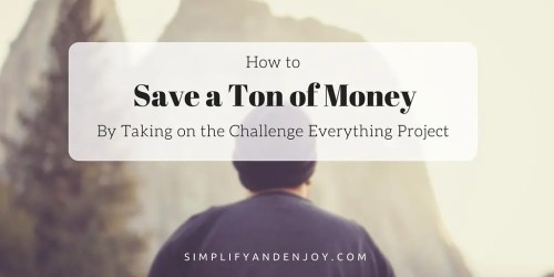 Challenge Everything Project Save big on your bills