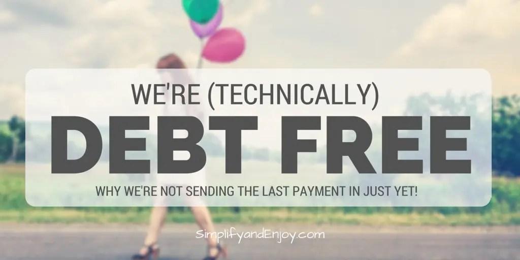 debt free simplify and enjoy