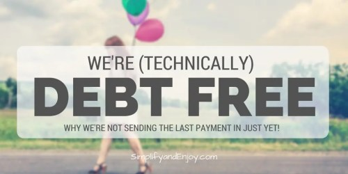 debt free simplify and enjoy