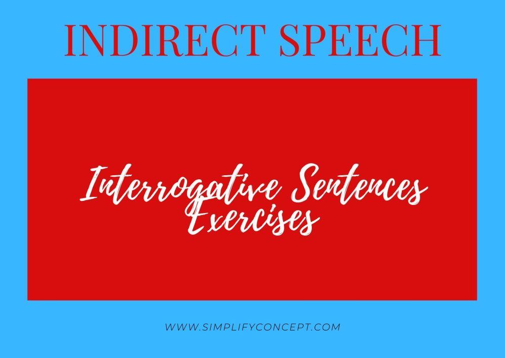medium resolution of Direct and Indirect Speech Interrogative Sentence Exercises