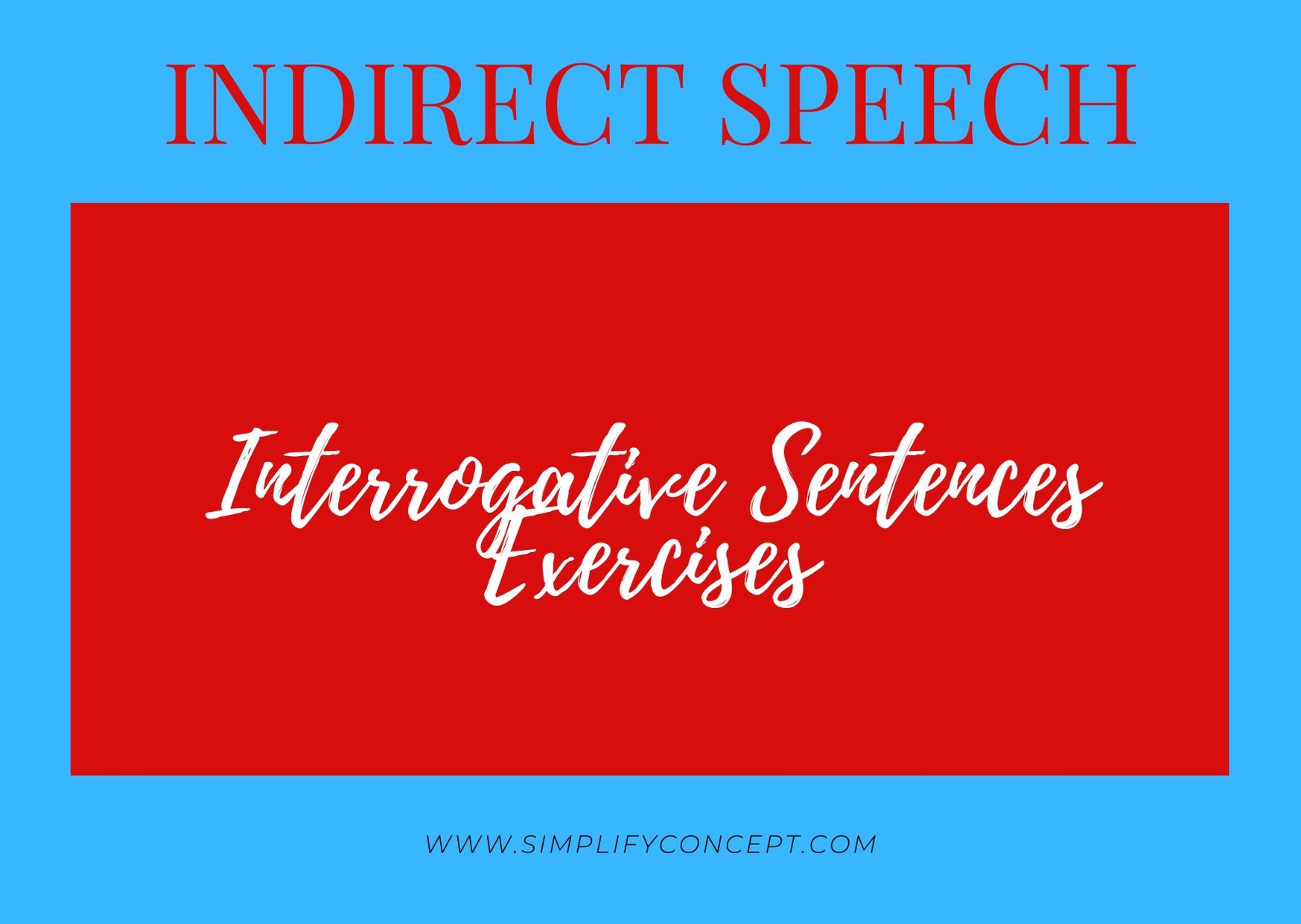 hight resolution of Direct and Indirect Speech Interrogative Sentence Exercises