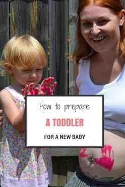 prepare toddler for new baby