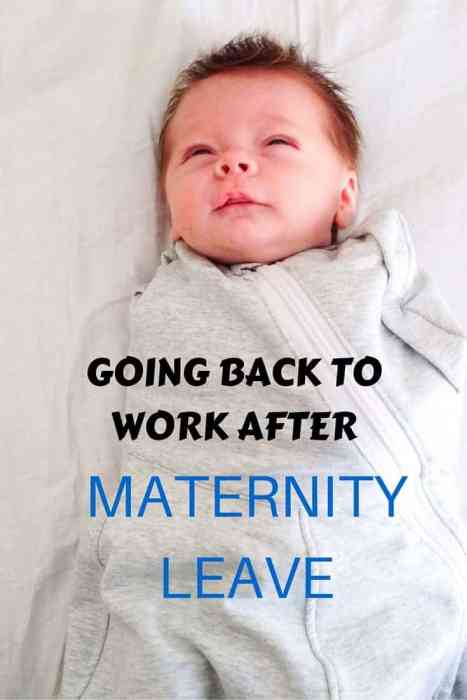 Going back to work after maternity leave