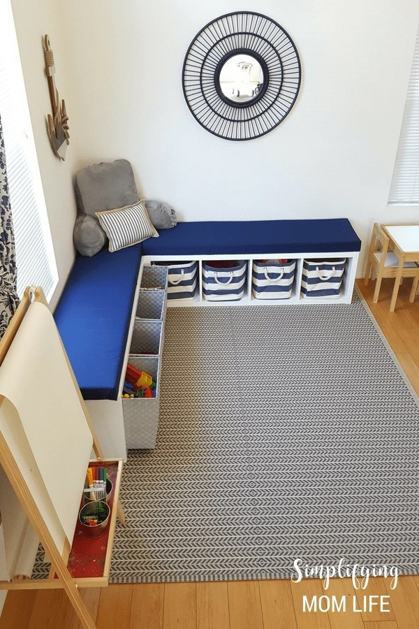 Ikea Kallax Hack Storage Benches For A Playroom